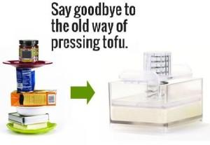 old way of pressing tofu
